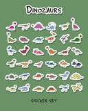 Dinozaurs, stickers collection for your design