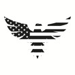 American Eagle in black for web design