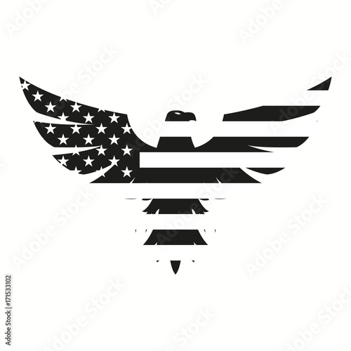 American Eagle in black for web design