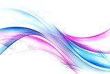 Blue and pink modern background. Abstract lines backdrop. - 171534196