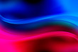Blue and red glowing waves background. Abstract light backdrop.