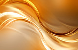 Gold waves backdrop. Flow abstract background. - 171534348