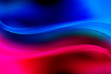 Blue and red glowing waves background. Abstract light backdrop. - 171534371