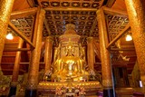 Golden four Buddha image in main hall of Wat Phumin or Phu min Temple at Nan province,  NorthThailand