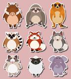 Sticker design for wild animals - 171543700