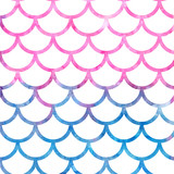 Mermaid scales. Watercolor fish scales. Bright summer pattern with reptilian scales. - 171547957