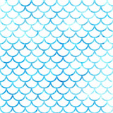 Mermaid scales. Watercolor fish scales. Bright summer pattern with reptilian scales. - 171547987