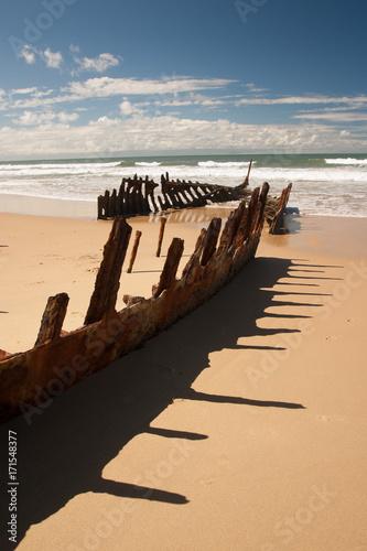 In de dag Schipbreuk SS Dicky wreck