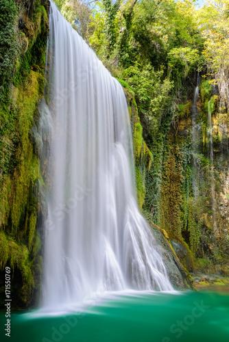 "Waterfall at ""Monasterio de Piedra"" Natural Park, Saragossa, Spain"