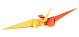 Two origami dinosaurus
