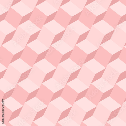 Poster Vintage Geometrical pink Pattern Design