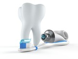 Tooth with toothpaste - 171554150