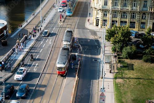 Tram in Prague Poster