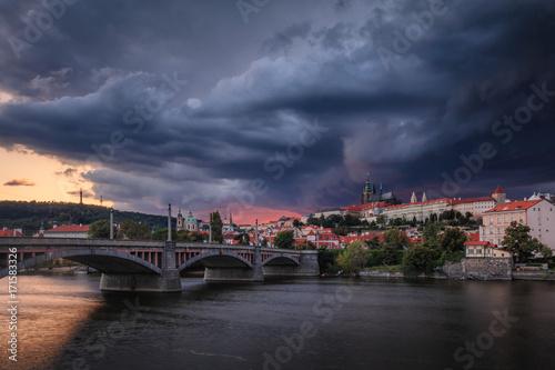 Storm coming to Prague, Czech Republic Poster