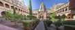 Mudejar cloister of Guadalupe Monastery, Central building Panoramic
