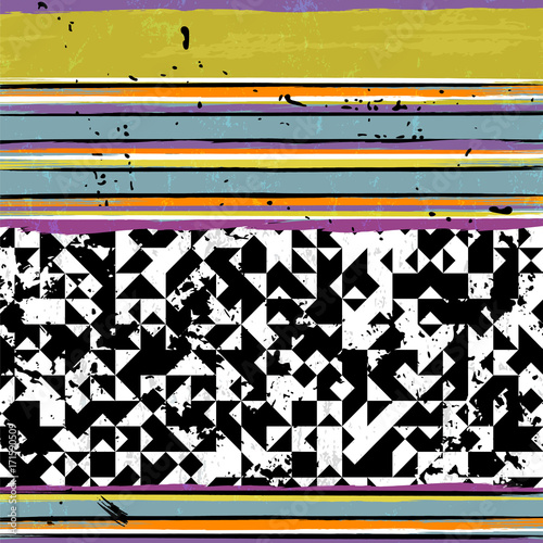 Fotobehang Abstract met Penseelstreken abstract background pattern, with strokes and splashes, stripe pattern, black and white
