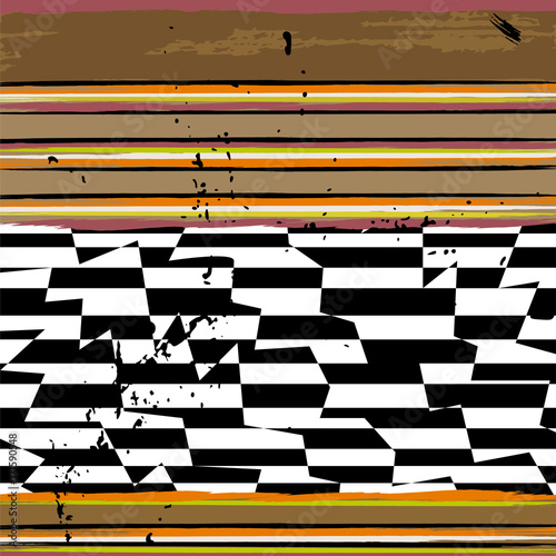 Aluminium Abstract met Penseelstreken abstract background pattern, with strokes and splashes, stripe pattern, black and white