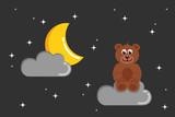 teddybär im nachthimmel