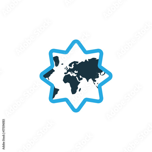 Islamic Colorful Icon Symbol. Premium Quality Isolated World Element In Trendy Style.