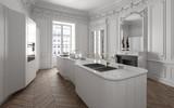 Luxuriöse Designer Küche in Altbau Loft - 171604568