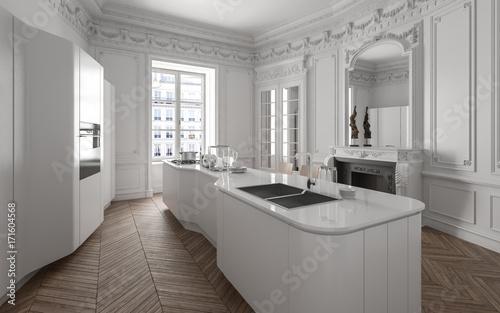 Luxuriöse Designer Küche in Altbau Loft