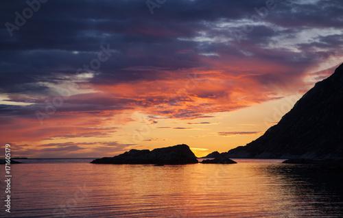 Foto op Plexiglas Zee zonsondergang Sonnenuntergang
