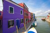 Case colorate su canale  a Burano