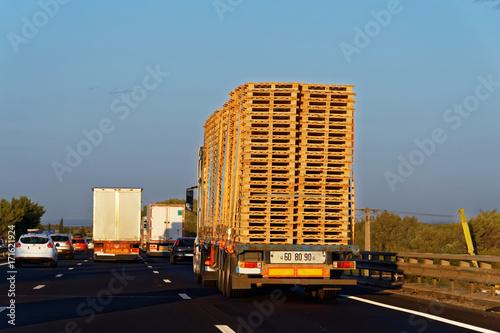 Fototapeta Camions transport