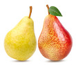 Fresh pears isolated on white background