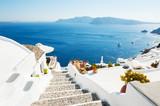 White architecture on Santorini island, Greece - 171625921