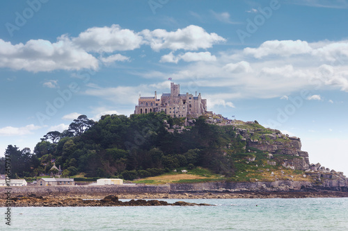 Ancient St Michael's Mount castle Cornwall UK Poster