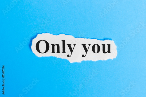 Only you text on paper Poster