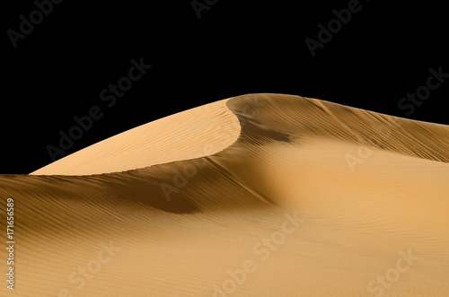 Foto op Canvas Abu Dhabi Abstract dune ridge, black sky, rub al khali desert, Abu Dhabi, Empty Quarter Desert.