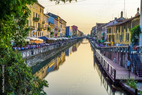 Fotobehang Milan Milano Navigli, Italy