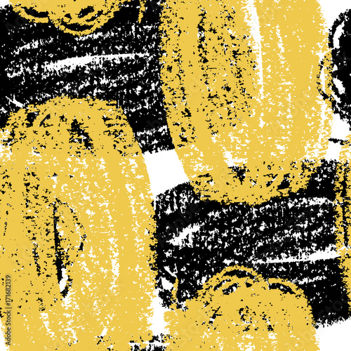 Materiał do szycia Abstract giant stroke seamless hand drawn pattern. Modern grunge texture. Colorful wax crayon drawn background.