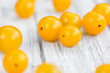 Portion of Yellow Tomatoes , selective focus