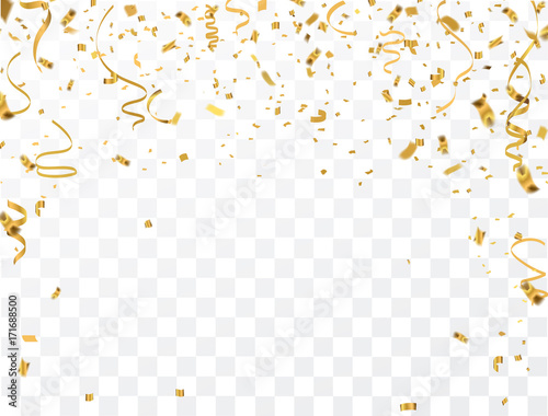 Złoto konfetti uroczystości