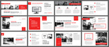 Red and white element for slide infographic on background. Presentation template. Use for business annual report, flyer, corporate marketing, leaflet, advertising, brochure, modern style. - 171699105