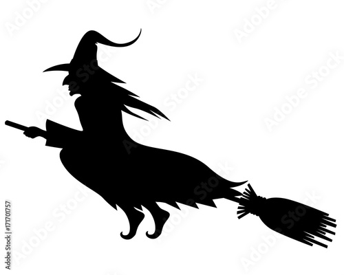 Wicked Halloween witch silhouette