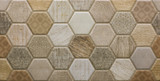 mosaic ceramic tile with abstract pattern - 171707797