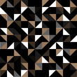 A gold and black geometric background.