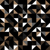 A gold and black geometric background. - 171717162