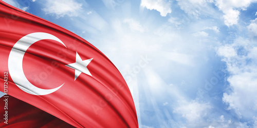 Plakat SKY TURKİSH FLAG