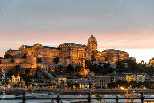 Poster Hungarian National Gallery. It is located  in Buda Castle