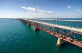 Aerial view along the old railway bridge between Bahia Honda and Spanish Harbor Keys
