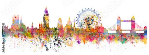 Abstract illustration of the London skyline