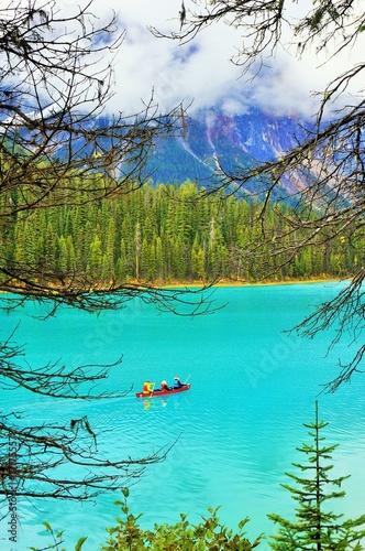 Foto op Canvas Turkoois Emerald Lake