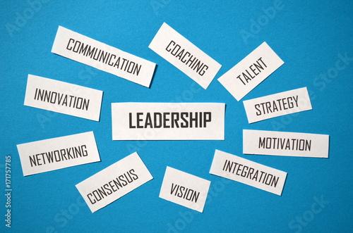 Poster LEADERSHIP Paper Tag Cloud