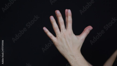 Obraz na płótnie Woman's hands practicing yoga