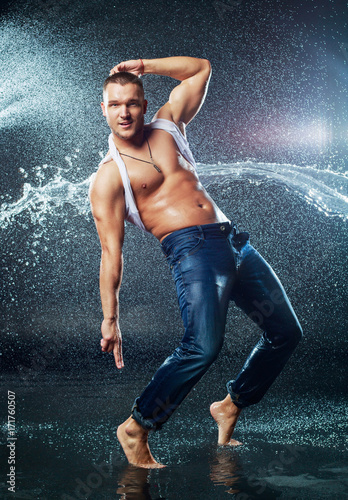man with a splash